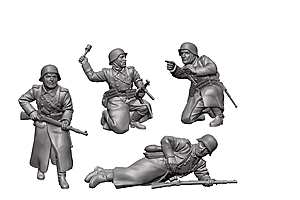 Zvesda 1/72 German Infantry(Winter Uniform