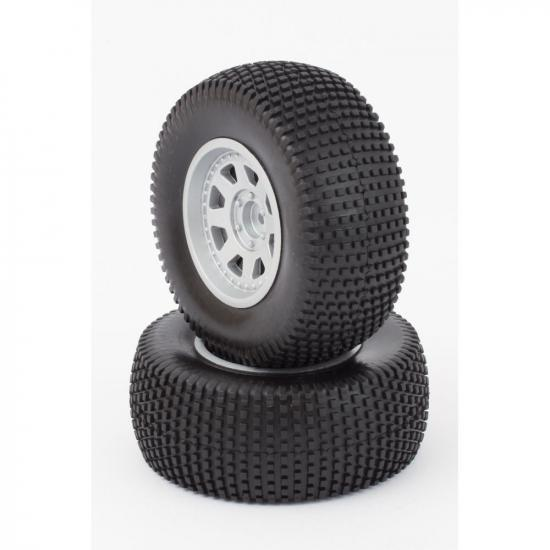 Tyres And Wheels (Mounted) Silver (2)