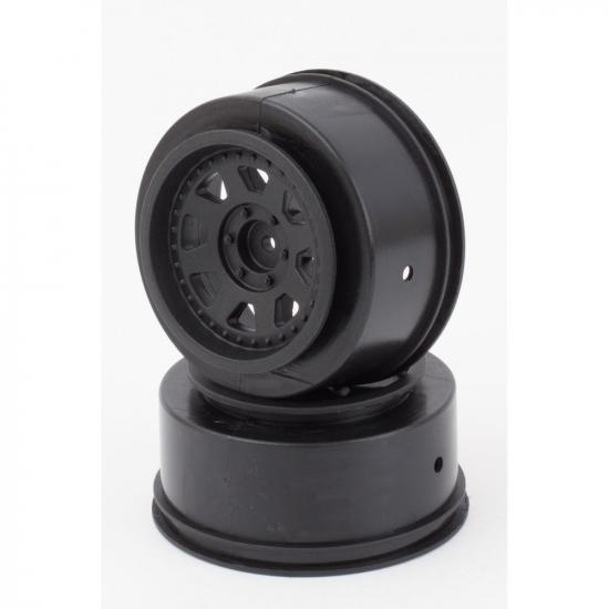 Wheels Black 24mm O/S (2)