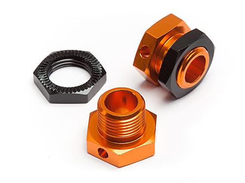 5mm Hex Wheel Adapters Trophy Buggy (Orange/Black) (Replaces 101045)
