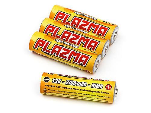 HPI Plazma 1.2V 2700mAh Nimh AA Re-Chargeable Battery (4Pcs)