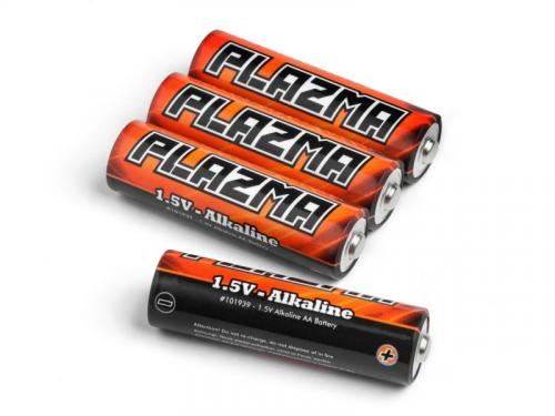 HPI Plazma 1.5V Alkaline AA Battery (4Pcs)