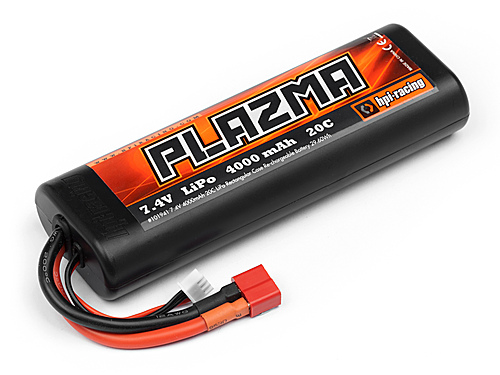 HPI Plazma 7.4V 4000mAh 20C Round Case LiPo