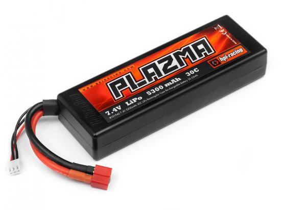 HPI Plazma 7.4V 5300mAh 30C Rectangular LiPo