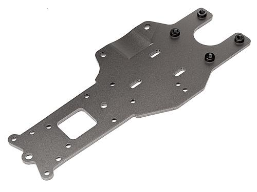 Rear Chassis Plate - Gunmetal