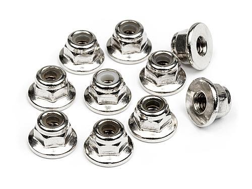 HPI Flanged Lock Nut M3 (10Pcs)