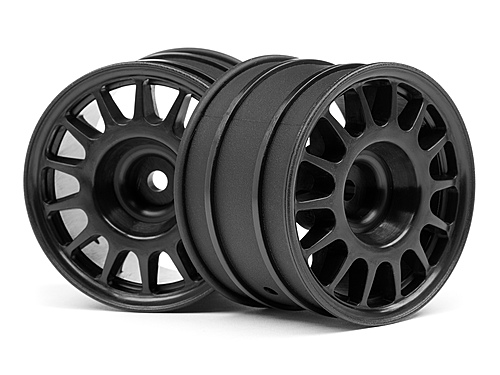 HPI WR8 Rally Off Road Wheels - 48 x 33mm - Black (2)