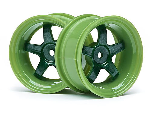 HPI Work Meister S1 Wheels - Green - 6mm Offset - 1 Pair ** CLEARANCE **