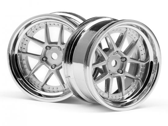 HPI DY-Champion 26mm Chrome Wheels - 6mm Offset (2)