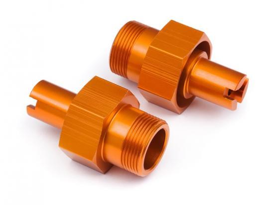 HPI 24mm Hd Front Hex Hub (Orange/2Pcs)