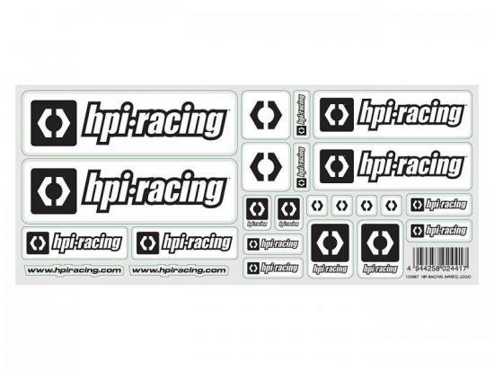 HPI Racing White Logo Decal Sheet