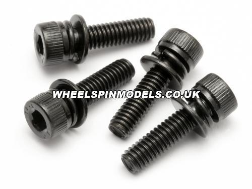 Cap Head Screw/Washer M4x15mm (4Pcs) Fuelie Engine