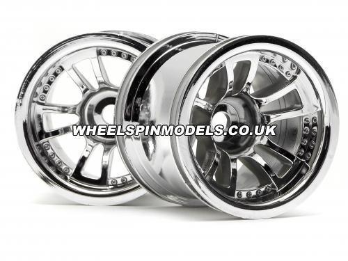 Split 5 Truck Wheel Chrome - Fits HPI Nitro MT - pair