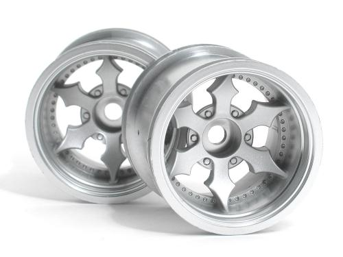 Spike Truck Wheel Matt Chrome 2Pcs MT Range & Univ Adaptors