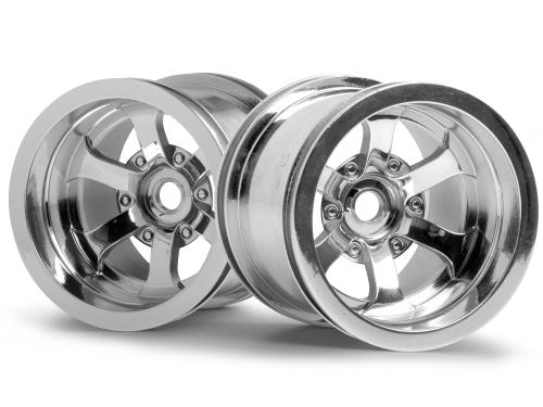 Scorch 6-Spoke Wheel Shiny Chrome - Pair