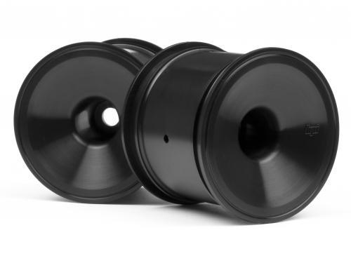 Dish Wheel Black 2.2 Firestorm/MT2 (2pcs)