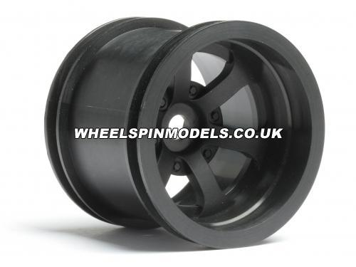 Scorch 6-Spoke Wheel Black - HPI Firestorm Standard - Pair
