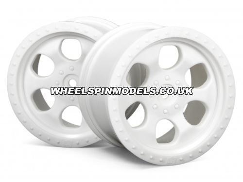 HPI 6 Spoke Wheel - White - 83x56mm - 14mm Hex - (pair)