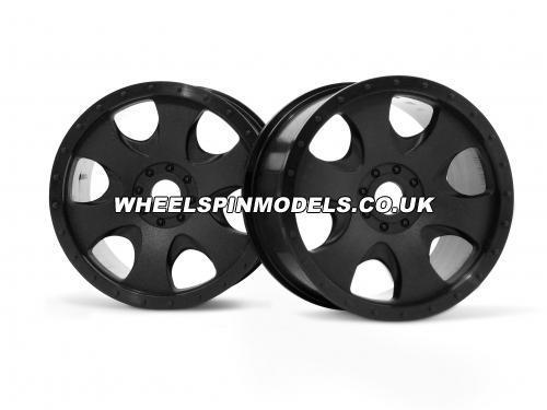 Warlock Wheel Black 83x56mm - 17mm Hex for Savage X / Hellfire - 2 Pcs