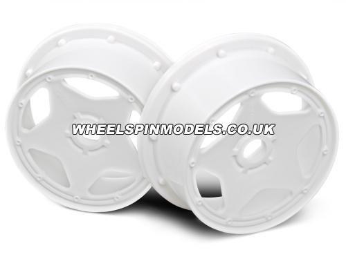 HPI Baja 5B Super Star Wheel - White - Front - Pair