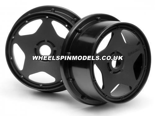 HPI Baja 5B Super Star Wheel - Black - Front - Pair