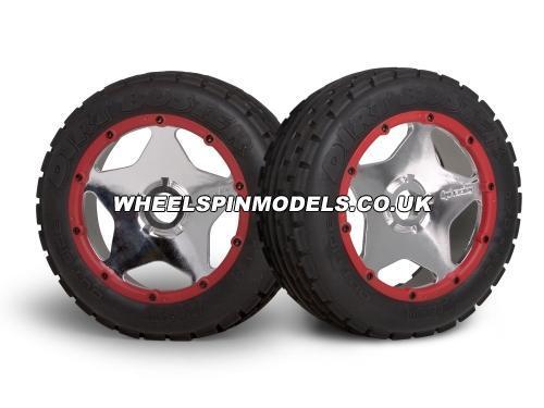 HPI Baja 5B Super Star Wheel - Shiny Chrome - Front - Pair
