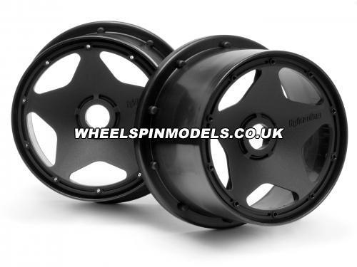 HPI Baja 5B Super Star Wheel - Black - Rear - Pair