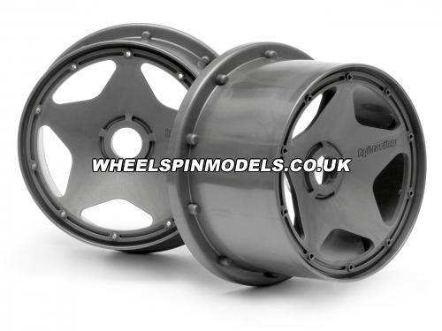 HPI Baja 5B Super Star Wheel - Gunmetal - Rear - Pair