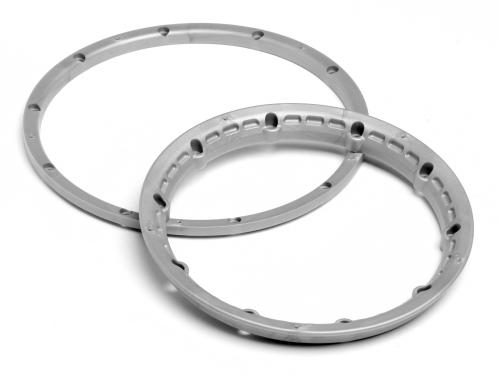 Heavy Duty Wheel Bead Lock Rings for HPI Baja 5B - Silver (1 Pair - fits 2 Wheels)