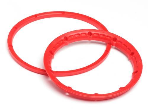 Heavy Duty Wheel Bead Lock Rings for HPI Baja 5B - Red (1 Pair - fits 2 Wheels)