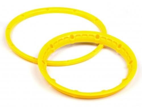 Heavy Duty Wheel Bead Lock Rings for HPI Baja 5B - Yellow (1 Pair - fits 2 Wheels)