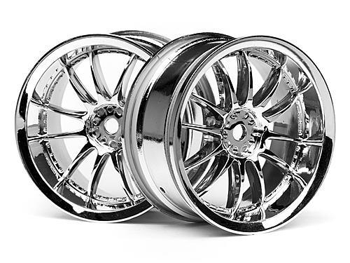 Work XSA 03C Touring Car Wheel 26mm Chrome (3mm Offset 2 Pcs)