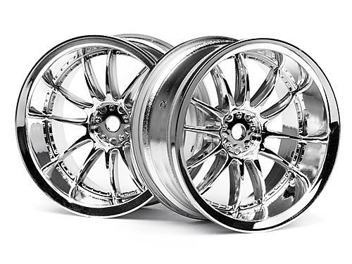 Work XSA 03C Touring Car Wheel 26mm Chrome (6mm Offset 2 Pcs)