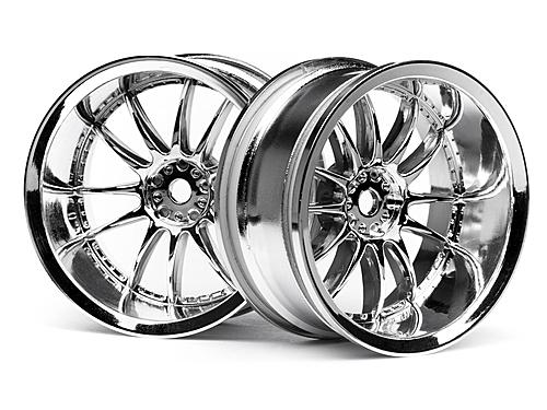 Work XSA 03C Touring Car Wheel 26mm Chrome (9mm Offset 2 Pcs)