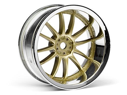 Work XSA 02C Wheel 26mm Chrome/Gold (9mm Offset)