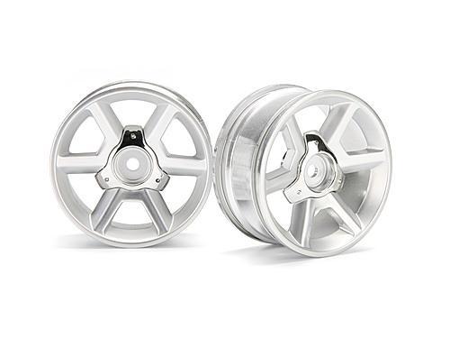 HPI Gt Wheel Silver (6mm Offset/2Pcs)