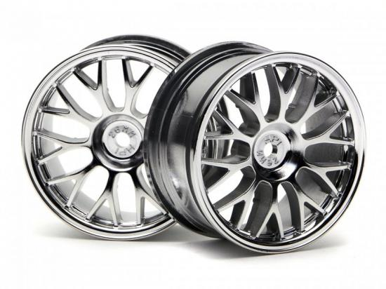 HPI Mesh 26mm Wheels - Chrome - 1mm Offset - 1 Pair