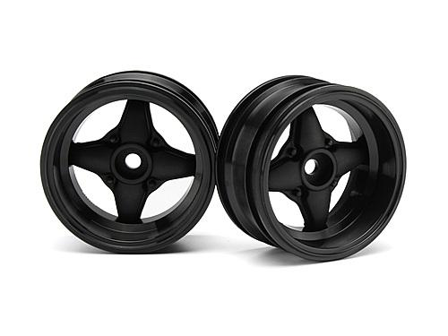 Mx60 4 Spoke Wheel Black (6mm Offset/2pcs)