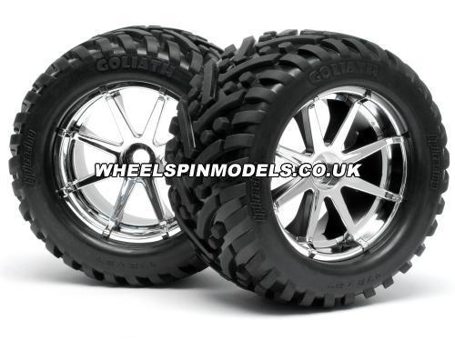 Goliath Tyre 7inch On Blast Whl Chrome With 17mm Hex