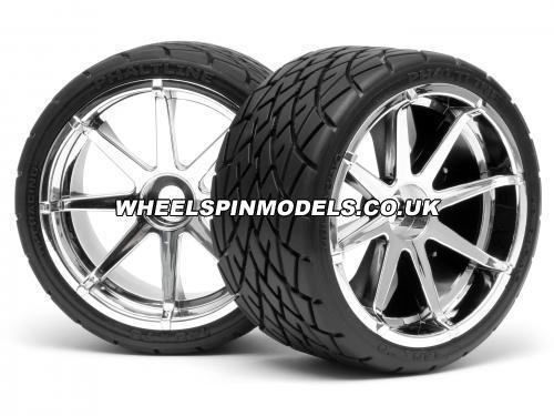 Phaltline Tyre 7inch On Blast Wheel Chrome With 17mm Hex