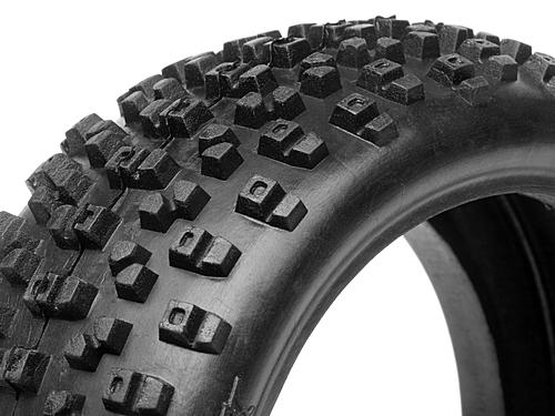 HB Proto 1/8 Buggy Tire (Red Soft Cmpd) (Replaces HPI-67745)