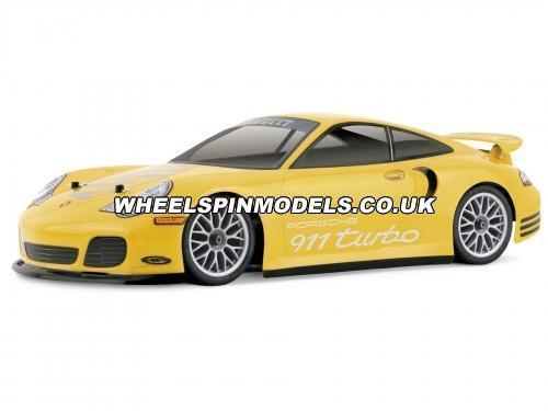 Porsche 911 Turbo Bodyshell (190mm Clear)