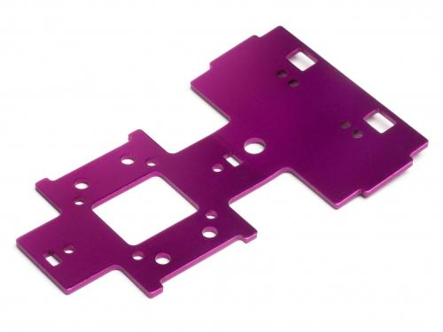 Gear Box Under Plate 2.5mm Purple E-Savage