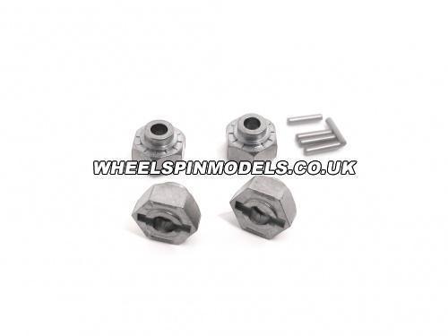Hex Wheel Hub 12mm Metal 4Pcs Std MT218SS Heavy Duty Option MT/MT2