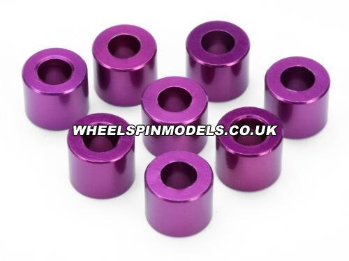 Spacer 4x8x6.5mm (Purple/8Pcs) for 87245 Savage Race Suspension