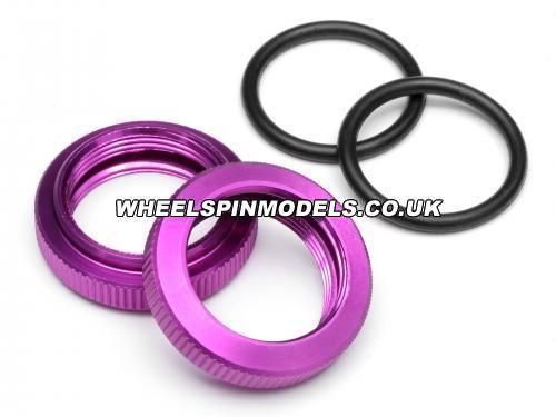 Shock Adjuster Nut 20mm Baja (Purple/2Pcs)