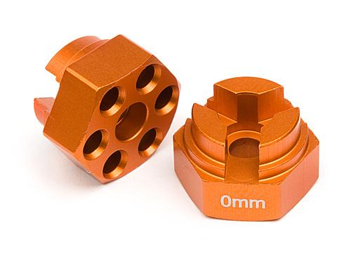 HPI Aluminum Hex Hub (0mm Offset/Orange) ** CLEARANCE **