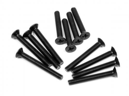 Wheel Hub Screw Set E10 M3x20mm - M3x24mm - M3x26mm