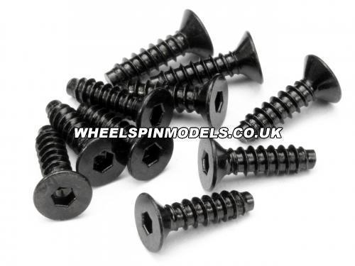 TP Flat Head Screw M4X15mm (10pcs) Hex Socket