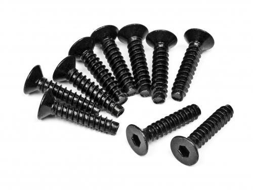 TP. Flat Head Screw M4X18mm (Hex Socket/10Pcs)